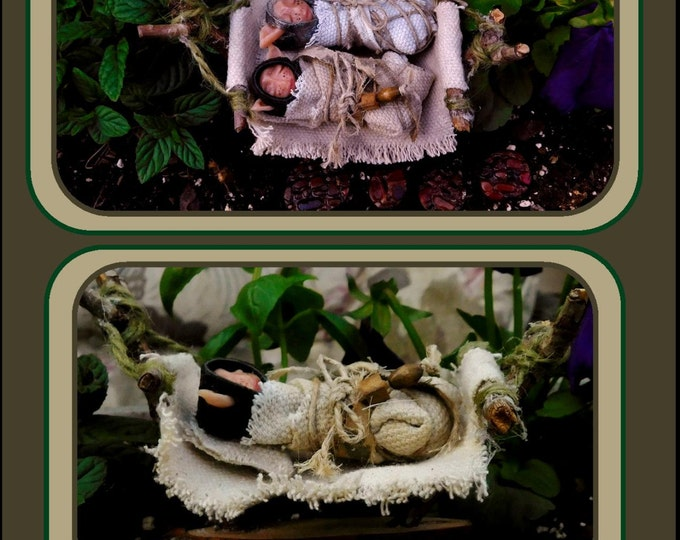 Adopt a Fairy Baby,fantasy,magic,children gifts,wife gift,kids garden,fairy gardens,,miniature furniture,fairy accessories,fey,fairie