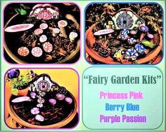 Fairy gardens,fairy garden kits,fairies,kids garden,magic fairy garden,child garden,fairy furniture,purple,fairy house,fairies, garden