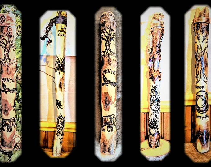 child communication - Talking sticks -  group talking -  hiking stick - walking stick - child walking stick - kids sticks