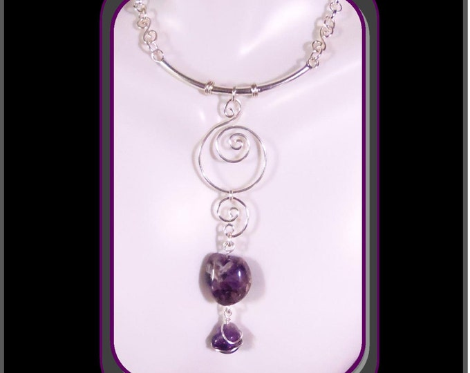 healing,amethyst jewelry, Sacred Spriral,Artistic Creations by Rose
