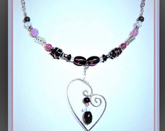 heart jewelry,mother daughter jewelry,heart necklace, Valentines jewerly, custom jewelry