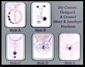 Valentines jewelry - Heart jewelry, February jewelry - Amethyst jewelry - girlfriend gift - mother gift - wife gift - daughter gift