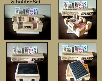 canasta tournament,playing card holder, personalized,husband gift, Canasta rack, wife gift, mother gift, father gift, card rack, canasta