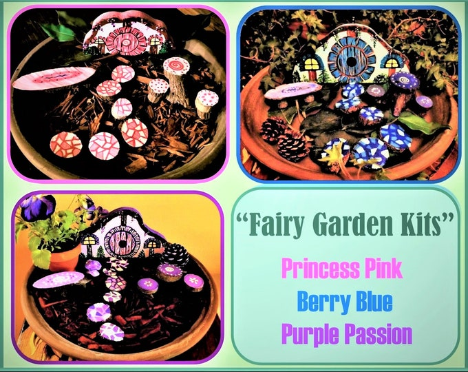 fairy garden kits - fairy garden - garden kits - children gifts - fairy accessories,fey,fairies,fantasy,magic,