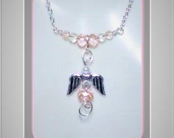 Angel, Loss, bereavement, memorial, sympathy, necklace,  mother gift, birthstone, gift, Couples