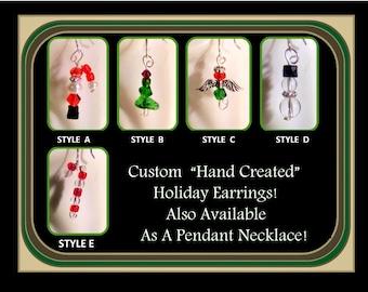 Christmas Jewelry - Christmas Earrings - Christmas ornaments - wood - Holiday jewelry - christmas gift ideas