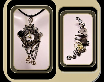 Steampunk jewelry - Cosplay - Industrial - Cyberpunk,jewelry -Steam punk Necklace,, Steampunk,