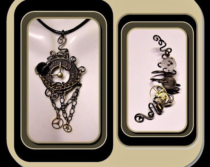 Steampunk jewelry - Cosplay - Industrial - Cyberpunk,jewelry -Steam punk Necklace,, Steampunk,
