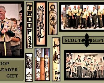 Troop Leader gift, Scout leader gift,  Scout gift,Scout gift, hiking stick,walking stick,retirement gift,walking cane, cane
