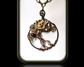 Steampunk Necklace, Steampunk Jewelry,Cosplay,Steam punk Necklace, Steampunk pendants, Steam punk, Sci Fi jewelry, comicon jewelry