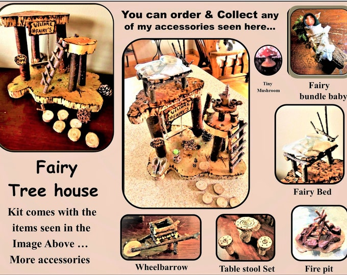 fairy tree house, fairy house, fairy fire pit,fairy bed,fairy Babies,fairy garden,fairiesfairy garden accessories,fairy furniture,miniatures