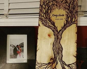 Rustic wedding gift - couples gift - wood anniversary  -  5 year Anniversary - husband gift - wife gift -  boyfriend gift,girlfriend gift
