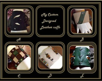 leather jewelry - geek Christmas gifts - gift ideas for men - larping - biker gifts - biker christmas gift - Harley gift