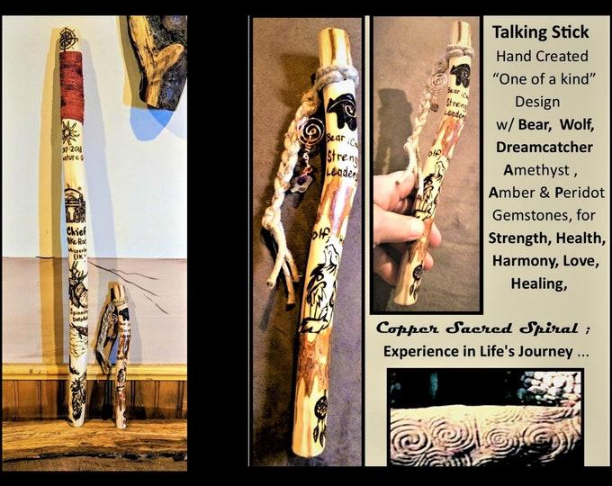 talk - talking stick - group talk - communication - hiking stick - walking stick - cane