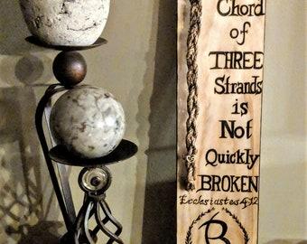 NO stickers, GODS knot, braid ceremony, Ecclesiastes 4:12,Wedding braid, Wedding ceremoy, chord of Three stands,nity Ceremony, wedding,braid