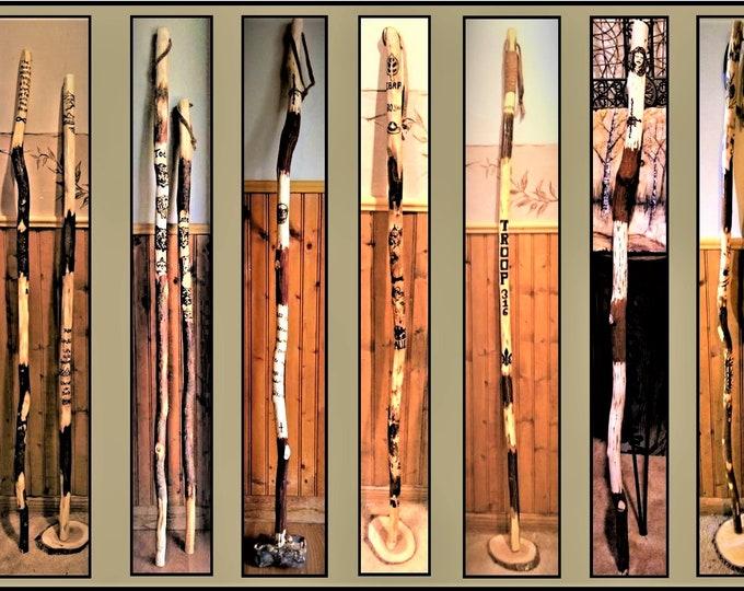 Retirement gift,wood anniversary gift,five year anniversary,husband anniversary gift,wife gift,hiking stick,walking stick,hiker gift,cane