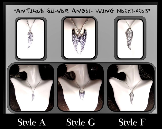 wings - girlfriend gift - couples gift - angel wing necklace, couples jewelry,mens gifts,couples jewelrywife gift,daughter,sister gift