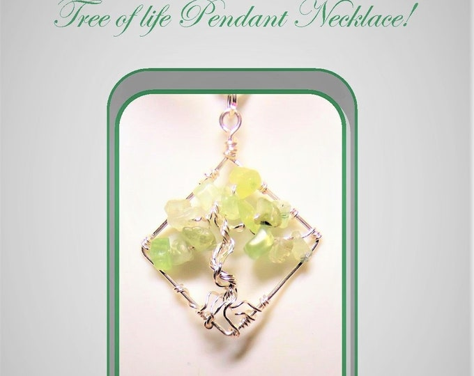 Peridot, Amethyst, jewelry, Heart, Balance, Healing, gemstone healing, spirit, light , love, Tree of Life, tree of life necklace,Per