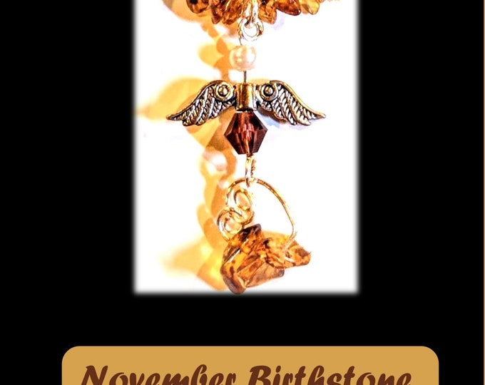 November birthstone jewelry - Topaz jewelry - Topaz - mothers gift -  wife gift - Mother jewelry - birthstones - artistic creations by rose