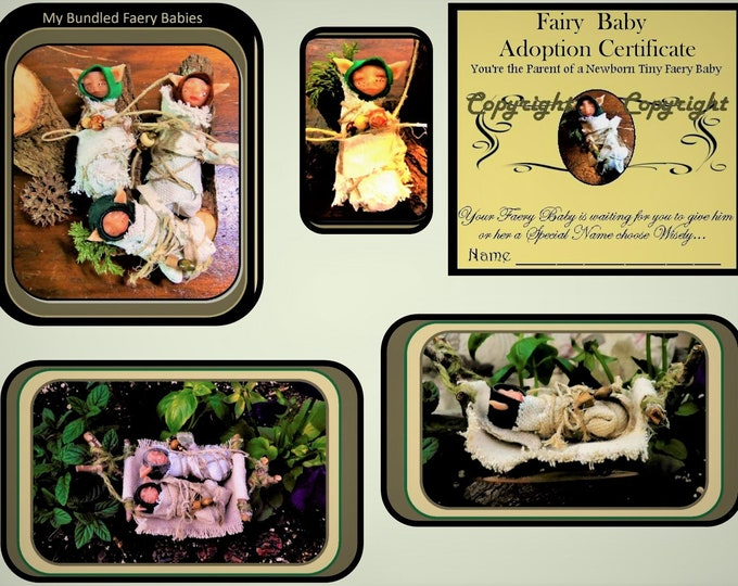 fairy babies - DIY - child gift idea - kids garden - fairy garden kit - fairy gardens - childrens fantasy -  ,garden art,