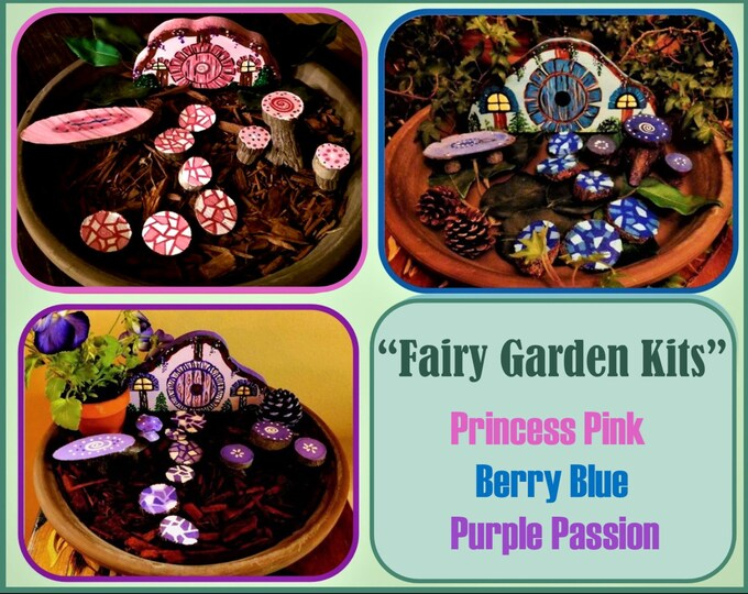 Kids Paint your own Fairy garden kit,Kids DIY,kid paint kit,little boy gift,little girl gift, kids kits,fairy garden kit,kid,childrens gift,