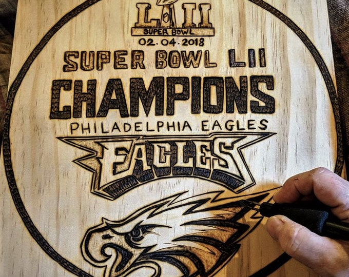 Eagles,Eagles Superbowl plaque, Philadelphia Eagles,wood anniversary gifts for him,Husband gift,Mens gift,Father gift,Son gift,brother gift