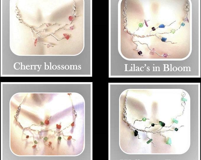 summer jewelry - tree of life jewelry- healing gemstone jewelry - mother gift,wife gift,grandmother gift,,Family Birthstone jewelry