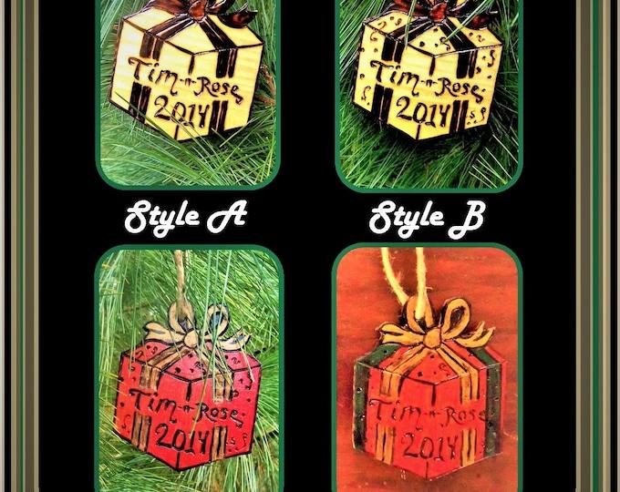 handmade - Christmas ornaments - wood - wood ornament - Christmas Jewelry - Christmas Earrings -  Holiday jewelry - christmas gift ideas