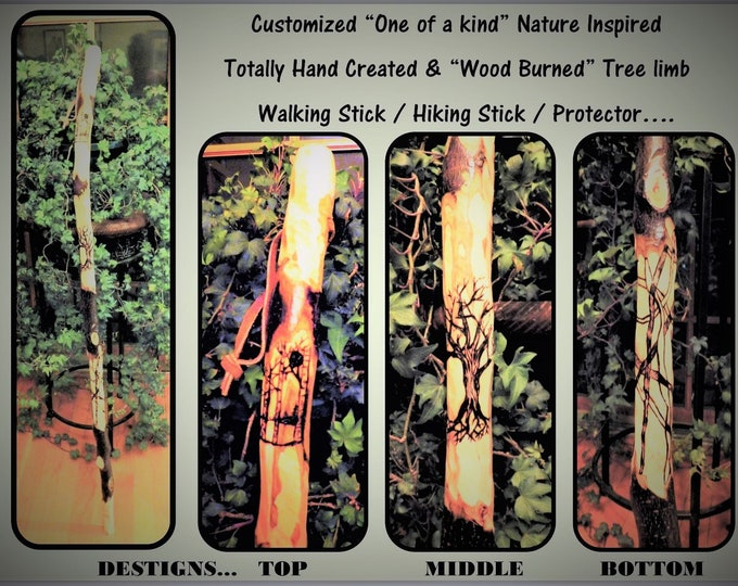 wood anniversary gift for him,hiking stick,walking stick,Retirement gift,Anniversary gift,scout leader gift