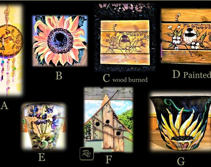 garden decorations, gardener gift,bird houses, flower pots, easter gift, mother gift, Garden Tag,Garden Marker, lables, Vegetable Markers