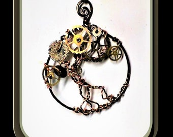 Steam punk Necklace,, Steampunk,girlfriend gift,daughter gift, sister gift,Steampunk jewelry - Cosplay - Industrial - Cyberpunk