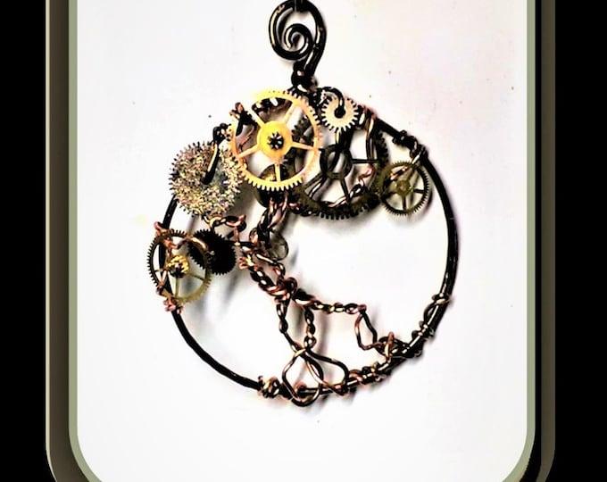 Steam punk Necklace,, Steampunk,girlfriend gift,daughter gift, sister gift,Steampunk jewelry - Cosplay - Industrial - Cyberpunk