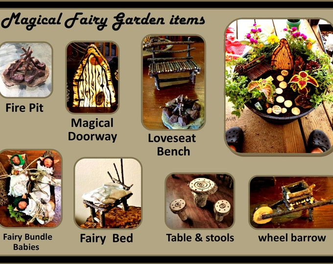 fairy garden kits - Fairy items - Fairy gardens -  fairy gardens - fairy furniture - fairy house - fairies - garden accessories