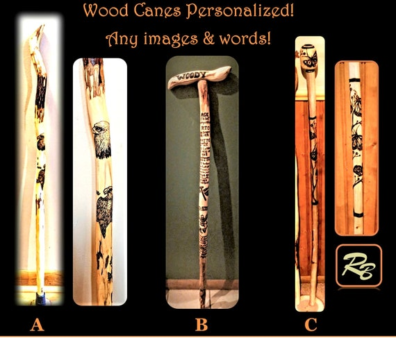 Canes, wood cane,  walking, cane, rehabilitation, cool canes , hiking stick - walking stick  - retirement gift -  wood anniversary