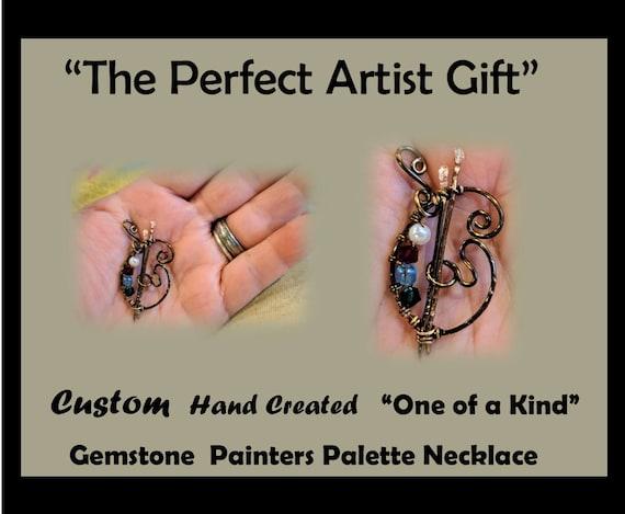 Artist gift - paint palette - painter gift - Paint palette jewelry - Art lovers gift
