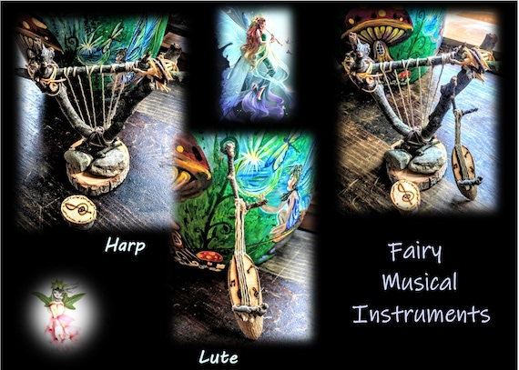 child gift ideas, fairy gardens, harp, lute, fairy items, fairies, fairy babies, Hammock, fairies, fairy garden accessories, fairy furniture