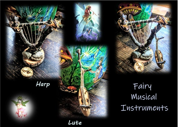 fairy gardens, fairy items, harp, lute, fairy items, fairies, fairy babies, fairy Hammock,fairies, fairy garden accessories, fairy furniture