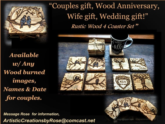 Love birds, Wedding gift, couple gift, wood anniversary gift, five year anniversary, wife gift, husband gift, Wedding favors