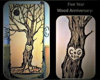 5 year anniversary, Wood Anniversary Gift,Couples gift ,husband gift,wife gift,Wedding gift,girlfriend gift - 5 year Anniversary gift,