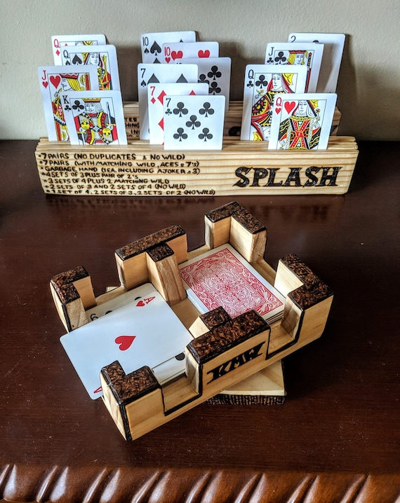 personalized, wood, Canasta tournament, playing card holder, husband gift, Canasta rack, wife gift, mother gift, father gift, card rack