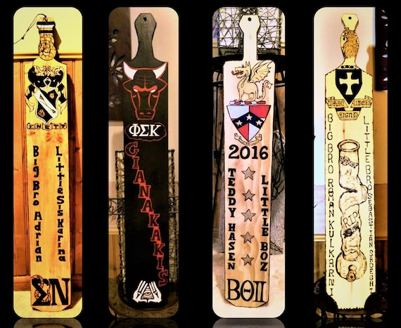 fraternity paddles - Greek paddle -  big brother gift - sorority paddles - big sister gift