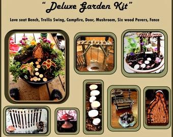 gardens - fairy garden kit - fairy gardens - kids garden - summer fun -  faerie garden - fairy  dish garden - daughter gift - wife gift