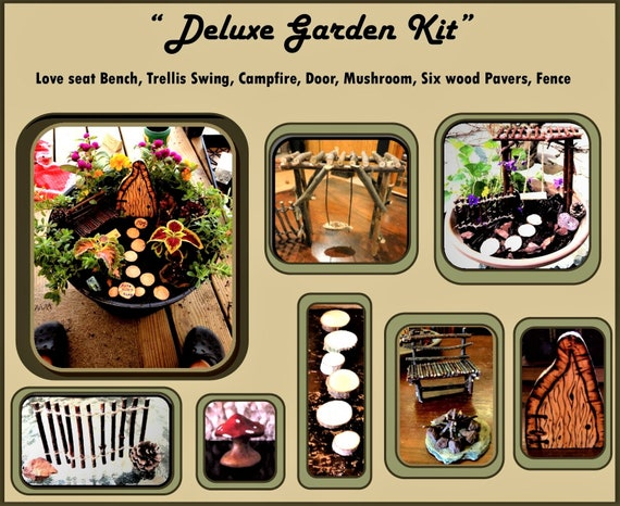 gardens - fairy garden kit - fairy gardens - kids garden - summer fun -  faerie garden - fairy  dish garden - daughter gift - wife gift