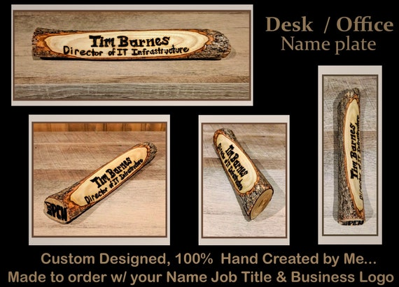 Desk name plate - company gift  - boss gift - employees gift - husband gift - office gift -wood name plate - House number sign- address sign
