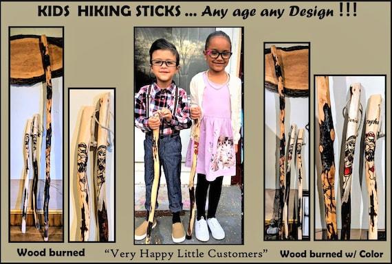 child hiking stick, kids hiking stick,  walking stick,