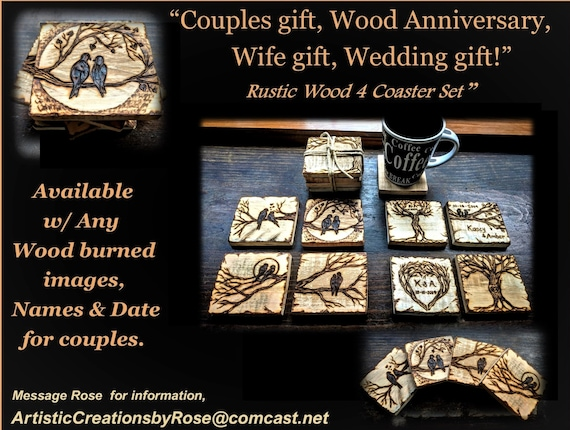 couples gift, wood anniversary gift, five year anniversary, wife gift, husband gift, boyfriend gift, girlfriend gift,  Wedding gift, LGBT