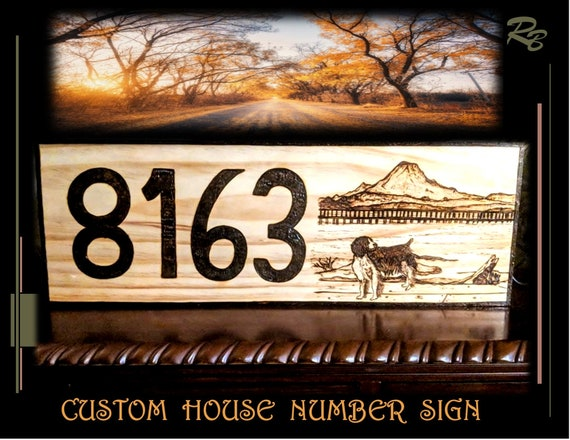 house number, sign, dog, wood sign, custom, husband gift,  art, sign, wood signs, couples gift,5th, anniversary. gift,wife gift, Rustic, Art