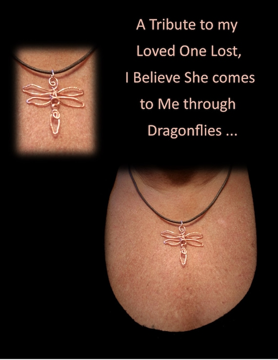 loved one lost, dragonfly, necklace, dragonflies,,wift gift,mother gift,friend gift