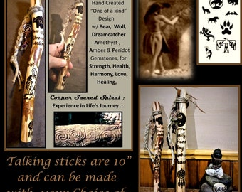 Tribal Talking stick -  talking stick - Communication - group talking, office gift, hiking stick,t,retirement gift,recognition gift
