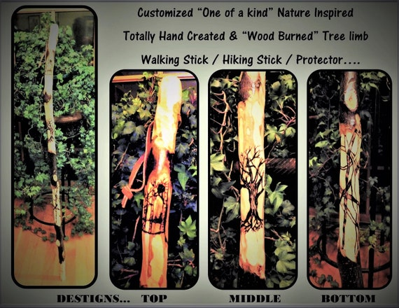 Retirement gift,father gift, husband gift, troop leader gift, hiking stick, wood, walking stick, cane